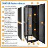 SmartRack Premium 42U Server Rack Enclosure, Secure, Standard-Depth