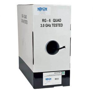 Cat5e 350 MHz Solid-Core Plenum-Rated (UTP) PVC Bulk Ethernet Cable - Black, 1000 ft. (304.8 m)