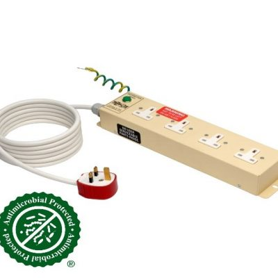 UK BS-1363 Medical-Grade Power Strip with 4 UK Outlets, 3 m Cord